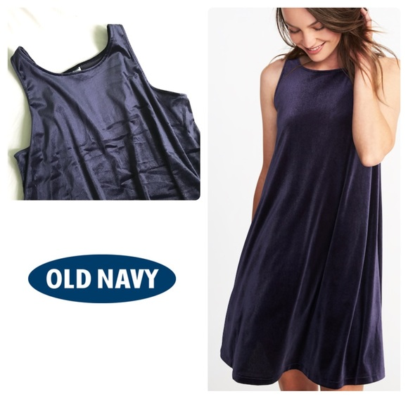 9602cf2622d Old Navy Velvet Knit Swing Dress Lost At Sea XL. M 5a6fcfa2077b97d6be389b61
